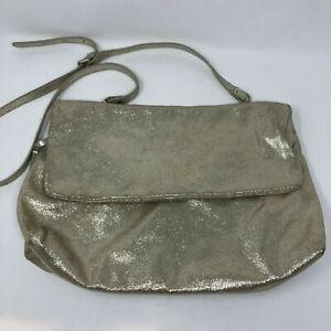 Gianni Chiarini Purse XL Light Gold Shimmering Shoulder Bag Handbag