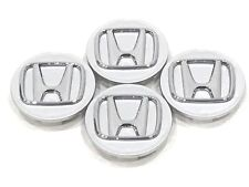 "4 Pcs, Honda, Cromo Plata Logo, 69mm/2.75"" H1 Accord Civic City Crv Compatible"