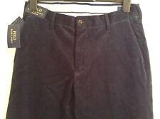 100 Auth Ralph Lauren Mens Newport Corduroy Navy Trousers. 31/34