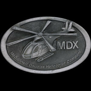 Mcdonnell Douglas Helicopters Mdx Notar Helicopter NOS Vintage Belt Buckle