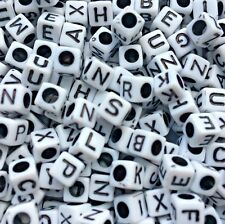 100/500 Alphabet Letter Beads White, Black Hole Mixed Dummy Clips *3 for 2*