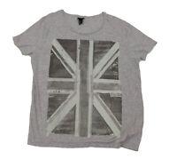 VGC British Flag Gray Tee Shirt Women's Large