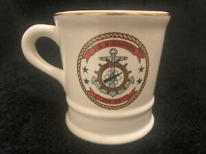 Vintage USS MISSISSIPPI  CGN-40 Mug Nuclear Guided Missile Cruiser by MIL-CERAM