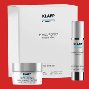 KLAPP Hyaluronic Face Care Set Day Night Cream und Serum je 50 ml