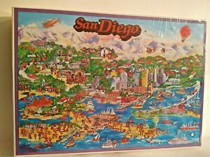 City Of San Diego Buffalo Games Inc Puzzle 1993 Don Scott USA Brand New Sealed