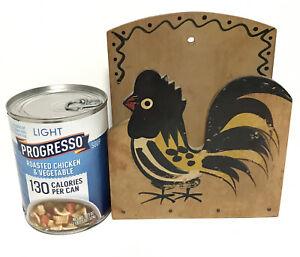 Vintage Woodpecker Woodware Rooster Chicken Kitchen Napkin Holder