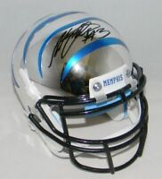 ANTHONY MILLER SIGNED AUTOGRAPHED MEMPHIS TIGERS SILVER CHROME MINI HELMET JSA
