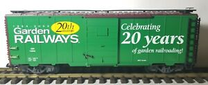 "G Scale LGB 40914 GR Garden Railways ""Celebrating 20 Years"" 40' Boxcar #1203"