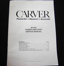 Original Carver AV-634 Power Amplifier Service Manual