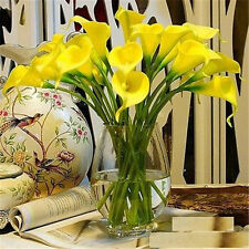 FD826 Yellow Artificial Latex Calla Lily Flowers Bouquet Garden Home Wedding ✿