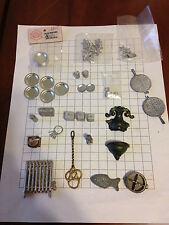 Lot 52 dollhouse miniatures metal decor kitchen plates radiator fountain pewter