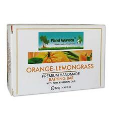 Planet Ayurveda Orange Lemon Grass Premium Handmade Bathing Bar Pack of 2