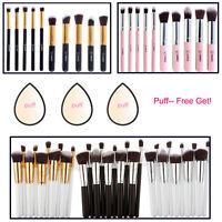 Pro Kosmetik Pinsel-Set Makeup Brush Schminkpinsel Pinsel Zahnbürste Set+Puff