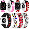 For Apple Series 6 5 4 3 2 1 SE 40 44mm Disney Silicone Wrist Strap iWatch Band