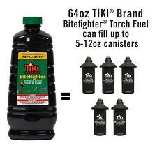 TIKI Torch Fuel 64 oz Mosquito Repellant Cedar Oil Citronella Deck Bite Fighter