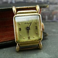 Vintage/ Antique H. Moser & Cie 18K Yellow Gold 16 Rubis Ladies Watch