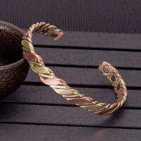 Bracelet Torsadé en Cuivre - Bracelet Magnétique - Bracelet de Guérison