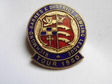 INSIGNE GB / UK BADGE RICHMOND BARNES & DISTRICT BOWLING LEAGUE TOUR 1950