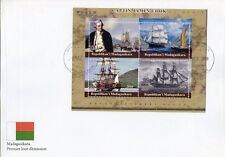 Madagascar 2018 FDC Captain James Cook Endeavour 4v M/S Cover Boats Ships Stamps