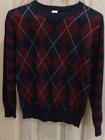 GAP Boys Blu CABLE KNIT GREENDOG Red ARGYLE PLACE VEST Sleeveless Sweater 3T 7 8