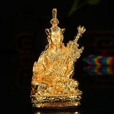 Tibet Tibetan Alloy Buddhist Guru Lama Rinpoche PadmaSambhava Buddha Statue