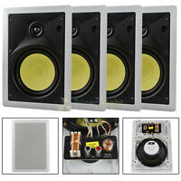 "4 Pack 6.5"" In-Wall Speakers 2 Way 60W RMS DCM By MTX Premium Home Audio Pro"