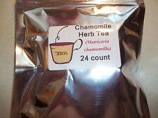 Chamomile Herb Tea Bags (Matricaria chamomilla)  24 count