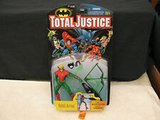 TOTAL JUSTICE GREEN ARROW W/MULTI-ACTION MEGA LONGBOW Action Figure NEW 1996