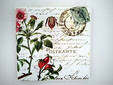 WALL Picture PLAQUE - VINTAGE/ RETRO style - Handmade  Flowers  / DECOUPAGE