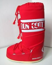 Tecnica Moon Boot Nylon rouge taille 35/38 Moon Boots Moonboots red