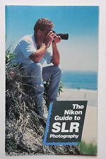 Nikon Guide to SLR Photography 1989 - English - USED B41