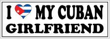 Me encanta mi Cubano Novia pegatina de vinilo-Cuba / Caribe - 26cm X 7cm