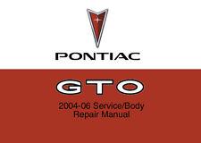 Pontiac GTO 2004 2005 2006 Service Repair Workshop Factory Manual Maintenance CD