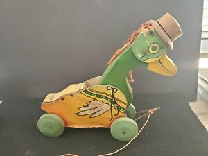 Vintage All Fair Toys & Games Quacking Duck Pull Toy ca1926 No 276