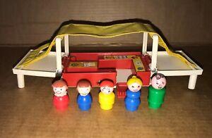Vintage Fisher Price Little People Family Camper Van + Figures (1975)