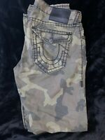 True Religion Jeans Men's Ricky Straight Army Green Camo Pants