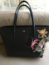 CAVALLI CLASS Black Tropical Shopper Bag