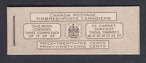 Canada Uni BK44B, 1951 KGVI intact Booklet w/ Bilingual Cover