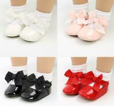 Birthday Gift Baby Girl Patent Leather Crib Shoe Infant Party Dress Outfit Shoes