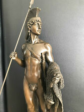 XL bronze personnage antique style Jason et la toison d'or signé 48 cm 6,1 kg
