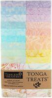 "Timeless Treasures Batik Tonga Treats - Buttercream - (20) 2.5"" Fabric Strips"