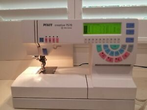 PFAFF 7570 Sewing and Embroidery Machine, Made in Germany