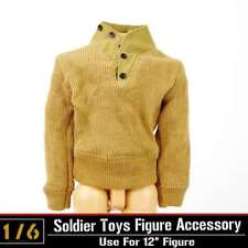 1/6 Scale Male Sweater Shirt Top Clothing Model WWII US Army Soldier F 12'' Body