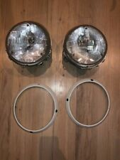 genuine porsche 911 930 964 headlights lamps BOSCH H5 bulbs w/rings complete