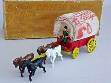 BENBROS QUALITOY - BUFFALO BILL'S COVERED WAGON - NEAR MINT AND BOXED