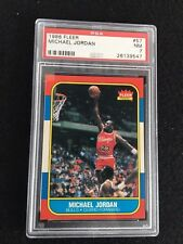 1986-87 MICHAEL JORDAN CHICAGO BULLS FLEER ROOKIE CARD #57 RC GRADED PSA 7