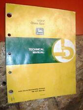 John Deere Model 46Ev Chain Saw Factory Service Manual Tm-1337 Technical 11/85