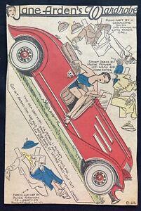 Jane Arden Sunday Funny Newspaper Paper Dolls, 1934, Jane, Vintage