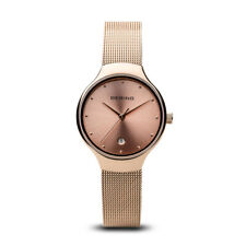 BERING Classic 26mm Rose Gold Mesh Band Womens Watch 13326-366 543a16a67f
