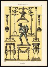 Antique Print-DECORATION-POMPEAN-MOTIVES-ORNAMENTS-Plate 10-Dolmetsch-1887